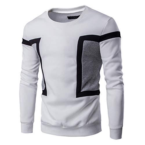 HOSD Color Hombres de Contraste del del suéter los El el suéter y del suéter Hombres de los y Suave paño del Grueso Casuales