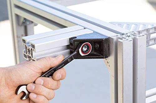 Bosch Professional 10 tlg. Ring Maulschlüssel Satz mit Ratschenfunktion (8-19 mm, Chrom Vanadium Stahl, Transporttasche) - 5