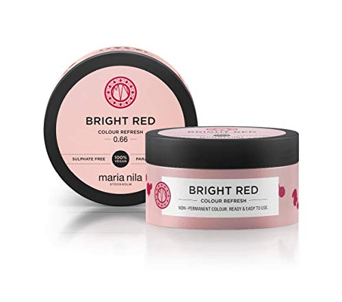 Maria Nila Colour Refresh - Bright Red 100ml   Eine revolutionäre Farbmaske zur Auffrischung und Intensivierung der Haarfarbe