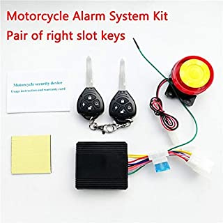 Fincos Motorcycle Motorbike Bike Anti-Theft Security Alarm Remote Control Sensor System - (Color: Right Slot)