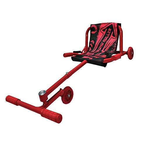 BIWOND Roller Dance (Patinete Infantil sin baterías con 3 Ruedas, Luces LED, Movimientos Zig – Zag, para Niños y Niñas, Material Antideslizante) - Rojo