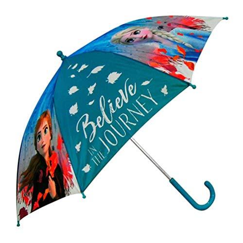 Frozen paraplu/scherm 52 cm voor kinderen De ijskoningin 2 ELSA en Anna