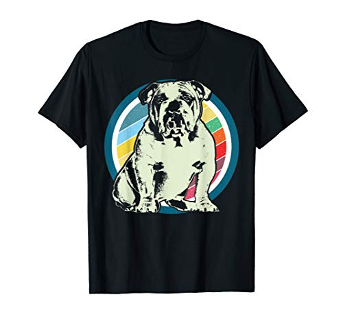 Englische Bulldogge Retro Style T-Shirt Design