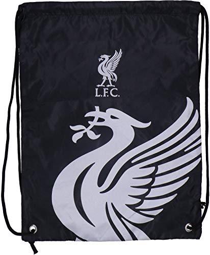 Liverpool FC Drawstring Gym Bag School Swim Sport Black Crest Fan Official
