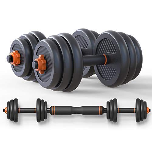 SISIZHANG Kurzhantel Kurzhantel Dame Kurzhantel Herren Fitness Home Langhantel Yaling Trainingsgeräte Set Kombination Fitnessgeräte bevorzugt (Color : ORANGE, Size : 10KG(5KG*2))