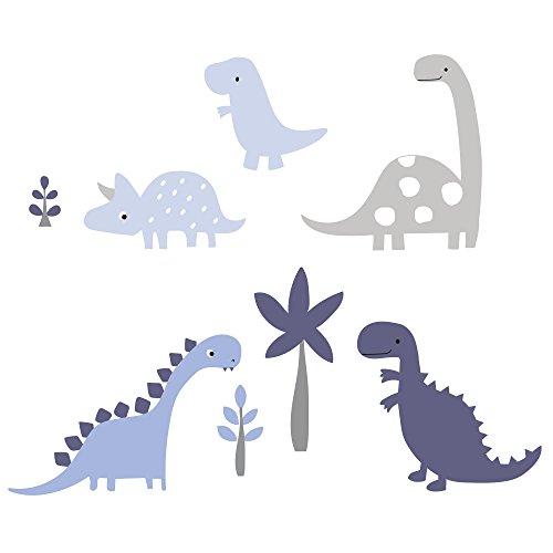 Sängtime original ryr dinosaurie vägg applikationer, blå/grå