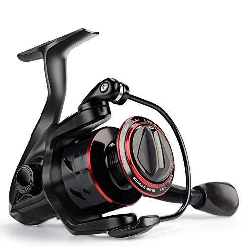 ZZQQ carretes de Pesca Reel de Pesca Spinning Super Light 8kg MAX Drag 5.0: 1 Ratio de Engranajes Bobina de Pesca de Carpa de Agua Dulce bobinas (Spool Capacity : 2000 Series)