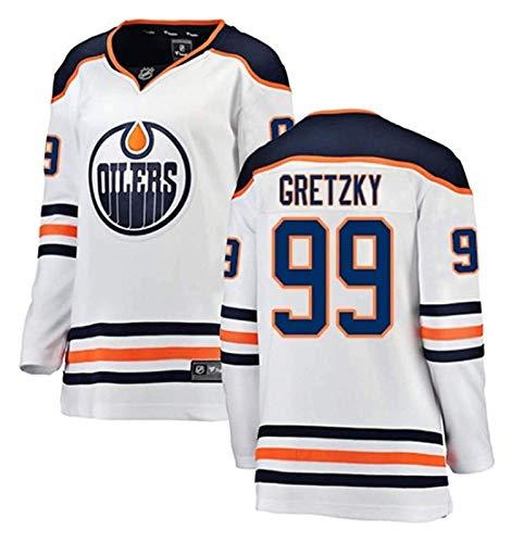 Männer NHL Jersey Oilers Stickerei Eishockey Trikots 27 Lucic 99 Gretzky 97 McDavid Sportswear Kurze Sweatshirts Ärmel Sport T-Shirt (Color : 1, Size : XXL)
