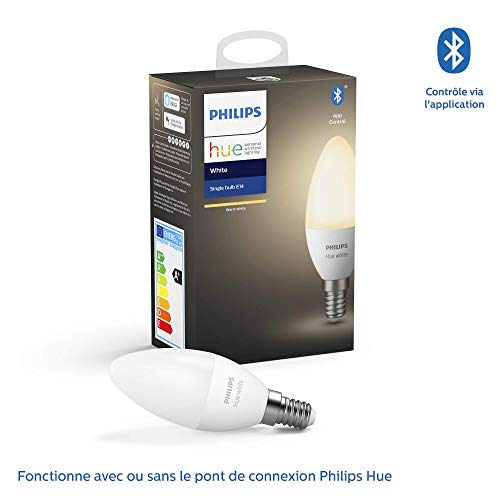Philips Lighting Hue White Smart LED-lamp, E14-fitting, dimbaar, 40 W, warm licht, 1 stuk