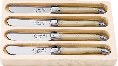 Laguiole Style de Vie Juego de cuchillos de mantequilla (4 piezas), color...