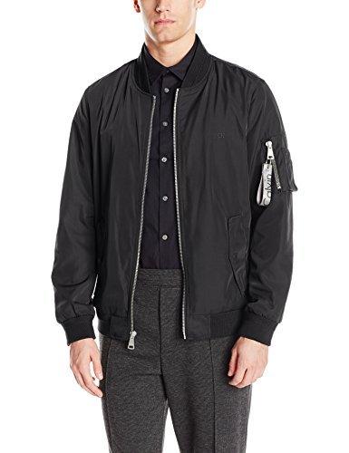 Calvin Klein Men's Flight Jacket, Black, Medium