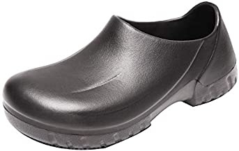 Non-Slip Nursing Chef Shoes Kitchen Garden Bathroom Oil Water Resistant Safety Working Shoes for Men and Women (6.5 Men / 7.5 Women / 9.45, 38 Black)