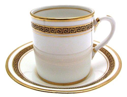Greek key Royal Albert c1930 Kaffeetasse und Untertasse