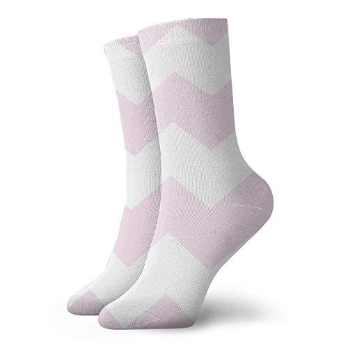 AEMAPE Calcetines con estampado de chevron rosa pálido Calcetines deportivos deportivos de comodidad clásica para hombres y mujeres unisex