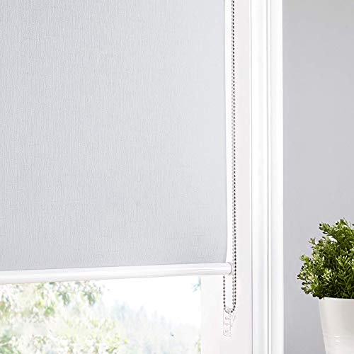 NICETOWN Blackout Window Blinds Roller Shades, Privacy Window Shades Energy Saving UV Protection Roller Window Blind for Home, Windows, Doors, French Doors (Maximum Height 72 inch, Grey, 28 inch W)