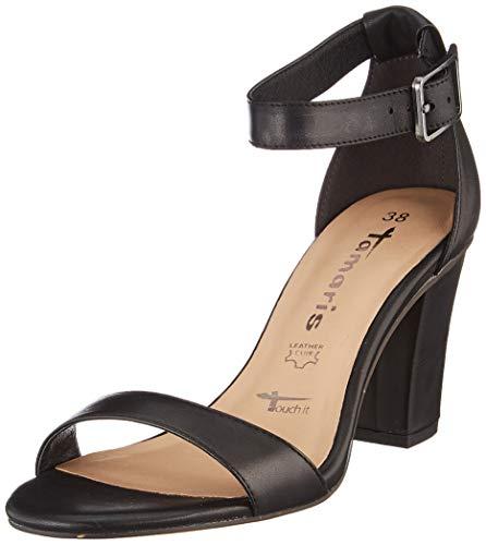 Tamaris Damen 1-1-28047-24 Riemchensandalen, Schwarz (Black Leather 003), 41 EU