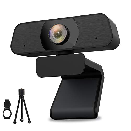 HAMTOD USB Webcam 2K, PC Webcam mit Mikrofon, 1440P Web Kamera Einstellbare Klarheit für Videoanrufe, Studieren, Konferenz und Live Streaming, Webcam Kompatibel mit Windows/Chrome/Mac OS