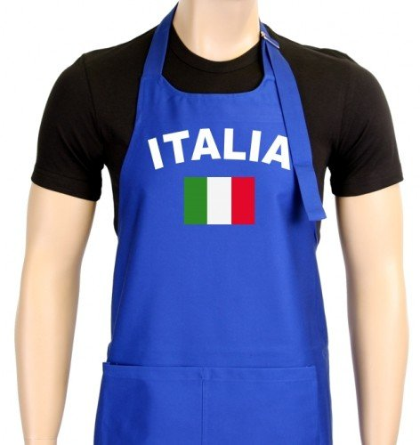 EM 2012 Grillschürze Italien, Blau