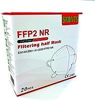 SKONTS - 20 Mascherine Protettive FFP2 NR - Scegli SALDI24 Official Store per Garanzia Totale sul Prodotto - Certificate...