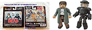 The Walking Dead Minimates Series 5 Maggie Greene And Riot Gear Glenn 2 Inch Action Figures - Diamond Select Toys 2014 - Factory Sealed - Carded And Uncirculated - This Is For One Set Of 2 Figures