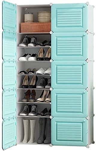 N/Z Home Equipment DIY Zapatero Multiusos apilable con estantes para Zapatos Estante de Metal Extensible apilable con 6 Niveles para la Entrada (tamaño: Blanco)
