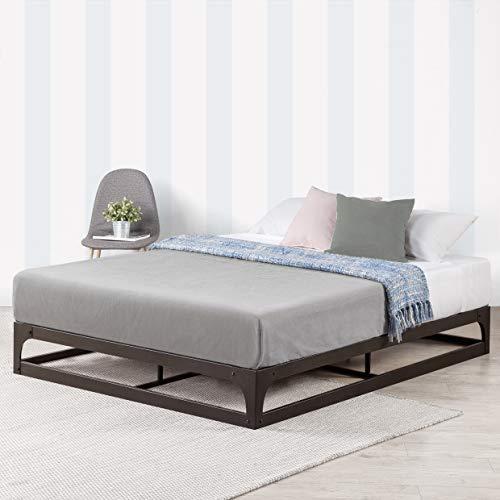 Mellow 9 Inch Metal Platform Bed Frame w/Heavy Duty Steel Slat Mattress Foundation, Queen, Black