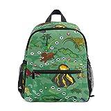 Mini sac à dos d'école, sac à livres pour enfants, garçons et filles, motif dinosaures, carte de niveau de jeu