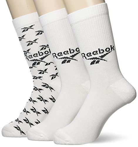 Reebok Herren Cl Fo 3P Crew Socks, White, XS