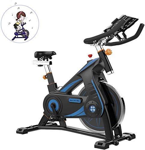 Girar la bici, multifunción APP Lee ritmo cardíaco Tiempo etc, manillar ajustable del asiento Resistencia, bicicleta estática electromagnética de soporte hogar con múltiples funciones de la rueda en m