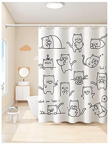 PENGDDP Cortina de ducha impermeable para baño, cortinas de baño, para bañera,...