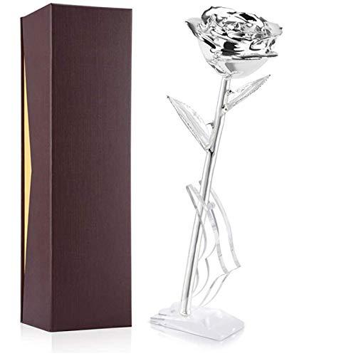 Rosa bañada en oro de 24 k, chapada en oro que no se marchita, regalo de rosas de oro de 24 k para San Valentín