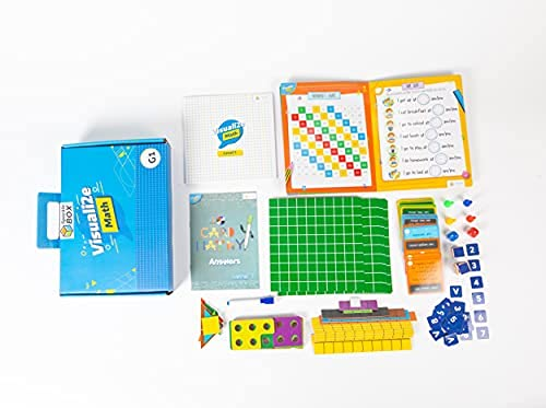 sparklebox math learning kit for grade 1 | age group 4-7 | 20 concepts learning activities for cbse /icse/state board-Blue