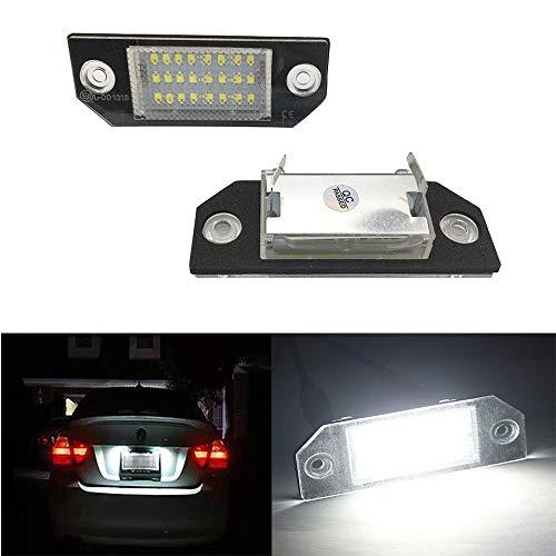 Yijueled 2 luces LED para matrícula de Focus para C-MAX 2003-2010 para Focus MK2 2003-2008 xenón blanco 18 SMD LED blanco