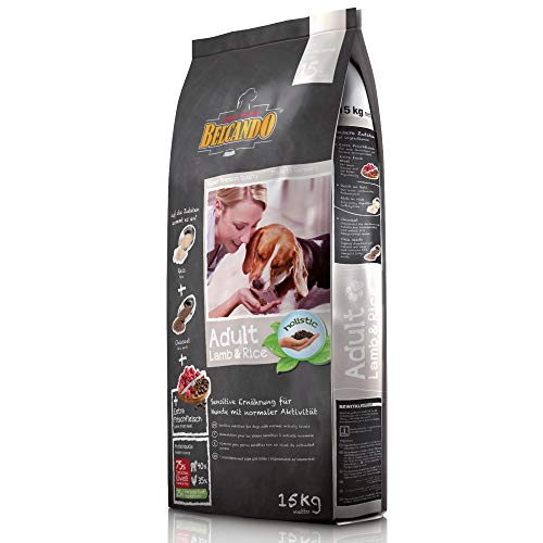 Belcando Adult Lamb & Rice [15 kg] Hundefutter | Trockenfutter für empfindliche Hunde | Alleinfuttermittel für ausgewachsene Hunde ab 1 Jahr