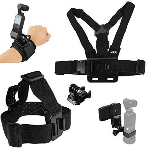 Accessories Kit for DJI Osmo Pocket,Osmo Pocket 2,New Quick Release Head Strap Mount + Chest Mount Harness + Backpack Clip Holder + 360°Rotating Wrist Strap