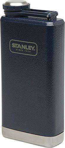 Stanley Adventure großer Flachmann, 0.23 L, Blau, 18/8 Edelstahl, Auslaufsicher, mit Deckelsicherung