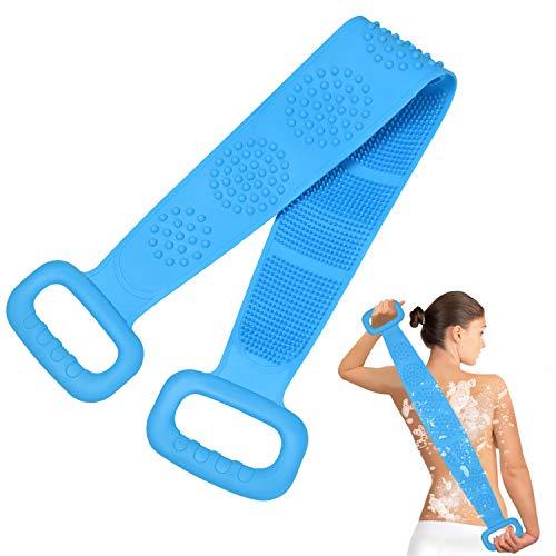 URAQT Badebürste Rückenbürste,Körperbürste Silikon Trockenbürsten Silikonbürste Körper für Bad Rücken Peeling körper Badewanne Dusche 73cm Länge