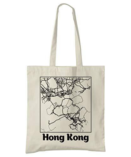 Super Cool Totes Hong Kong Stadtplan Einkaufstasche (Design 2)