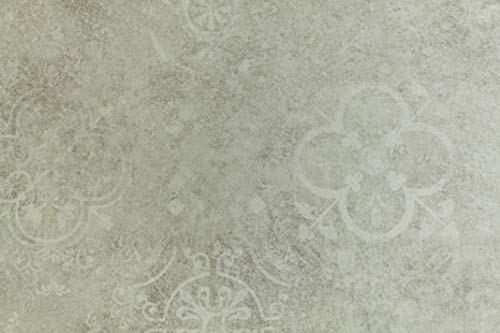 Tappeto Runner in Vinile per Cucina, Bagno - al Mezzo Metro - Passatoia in Vinile, Fondo in PVC espanso - Largo 100 cm (Light Grey)