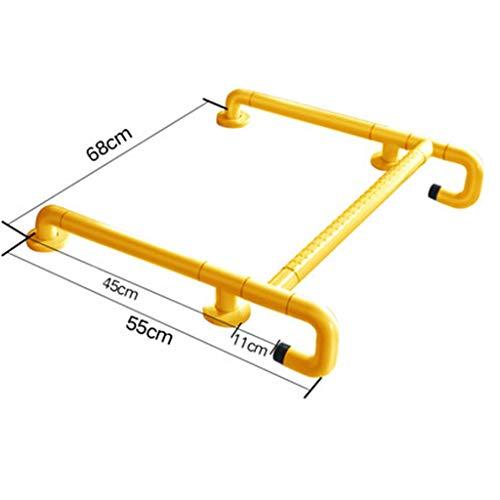 Griffstange Barrierefrei Waschbecken Handlauf Toilette Ältere Behinderte Waschtisch Booster Badezimmer (Farbe : Gelb)