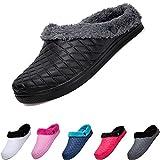 Zapatillas de Invierno Unisexo Zapatillas de casa,Pareja Zapatos de Algodon Guantes Jardín Casa Forrados Impermeable Slippers por Mujer Hombres Tallas 36–45