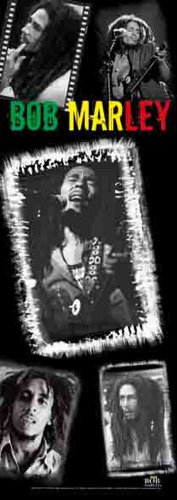 empireposter Marley, Bob Collage - Posterflagge 100% Polyester - 53x150 cm