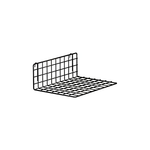 ShopDirect Drahtgitterboden | für Deko Wandgitter, Drahtgitter | B 40 x T 30 cm | zum Einhängen (schwarz)