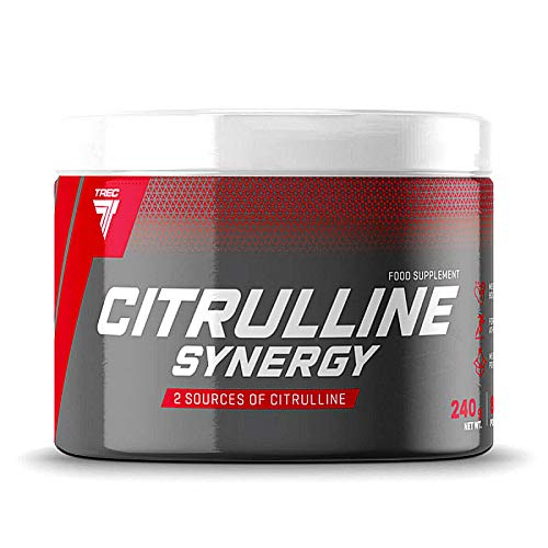 TREC Nutrition CITRULLINE Synergy 240g | Non-Stimulant Pre Workout Supplement | Muscle Pump and Muscle Mass Growth