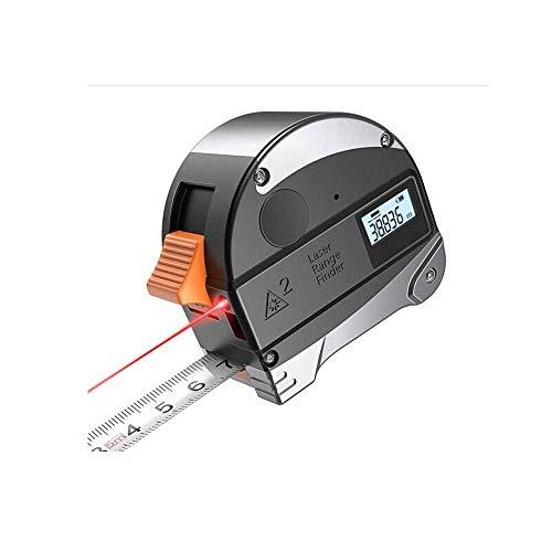 Yongenee Van Cinta métrica, rango infrarrojo Buscador Electrónico Inteligente indicación de la medida de cinta digital, Tratamiento de la madera Cinta métrica de acero 5 M + M 40 (Color: Negro, tamaño