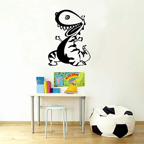 wopiaol kinderen dinosaurus muurtattoos baby slaapkamer kinderkamer cartoon home decor gepersonaliseerde vinyl muursticker grappig patroon aangepast