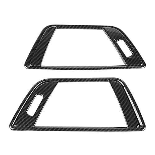 Aramox, 2 piezas, moldura de cubierta de ventilación de aire, moldura de cubierta de marco de ventilación de aire acondicionado lateral de estilo de fibra de carbono para 3 Series F30 2013-2018