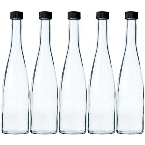 酒瓶 ワイン瓶 ALS500STD-F 500ml -5本セット- (黒ネジCAP)