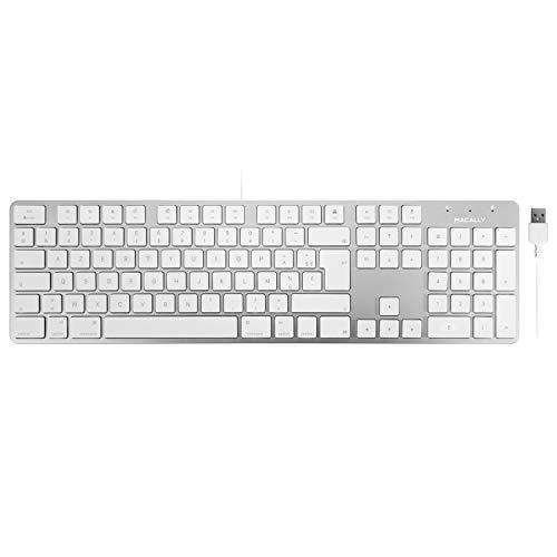 Macally SLIMKEYPROA-FR, USB-A-toetsenbord met Franse AZERTY lay-out