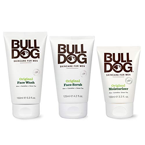 Bulldog Mens Skincare and Grooming Original Full Face Kit with Moisturizer